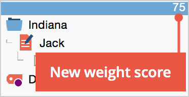 Updated weight score