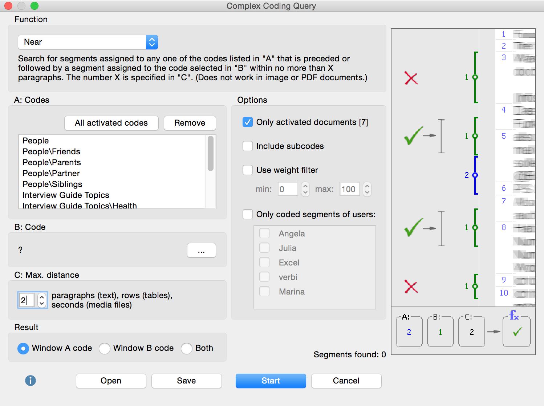 Complex Coding query window