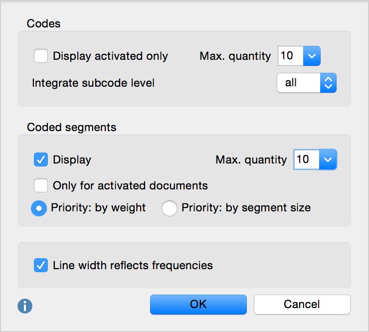 The Code-Subcode-Segments Model options