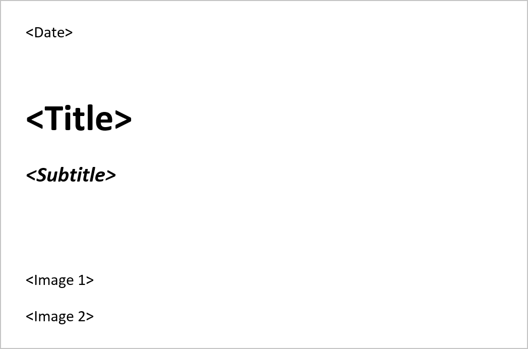 Placeholders for Word templates