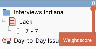 Weight score