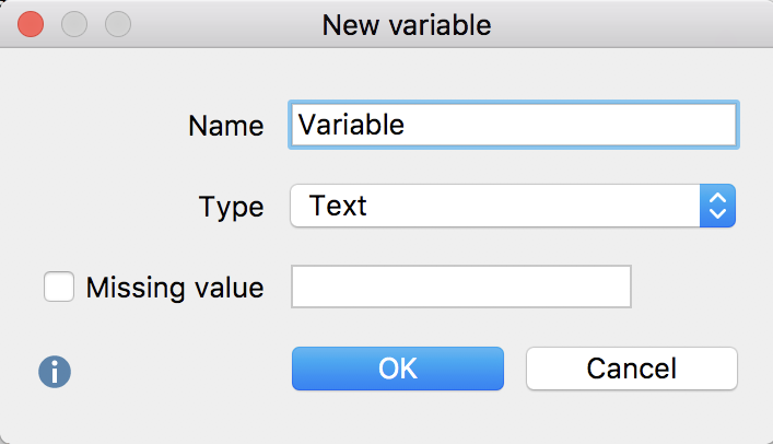 Defining a new variable