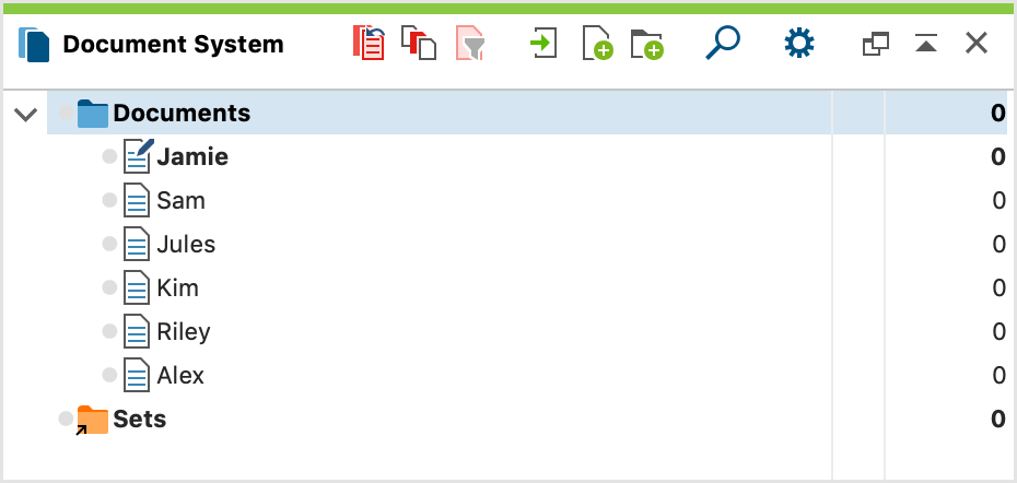 Display of documents in your Document System after import