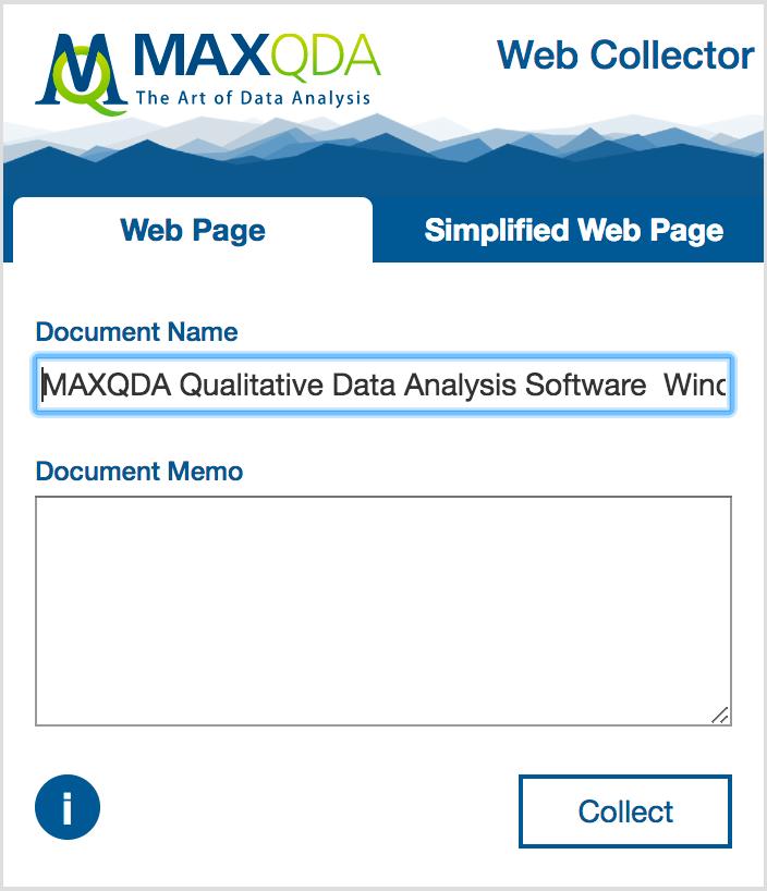 MAXQDA Web Collector