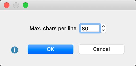 Set max. line length