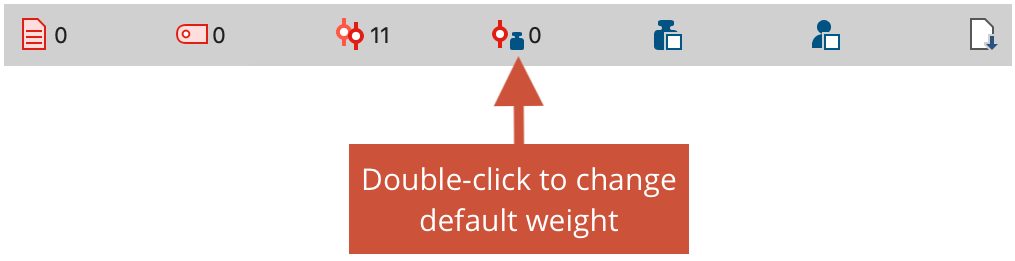 Changing the default weight in the status bar