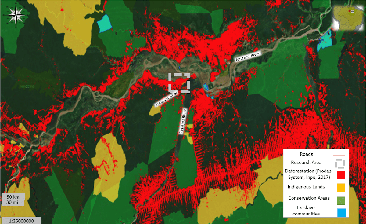 Deforestation Map Brazil