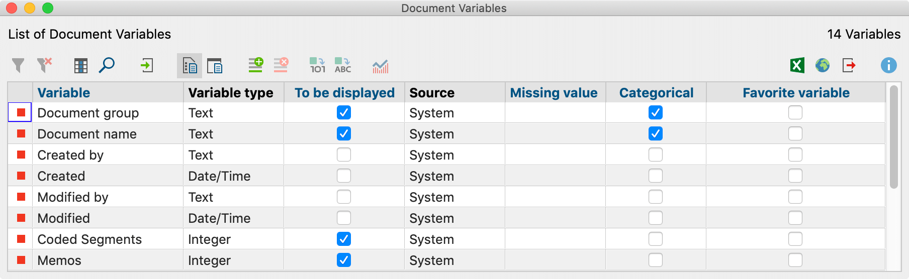 """System Variables in the """"List of document variables"""""""