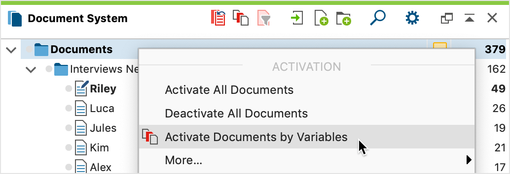 Accessing the function from the context menu