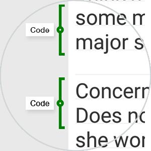 MAXQDA App - Texte erstellen und codieren