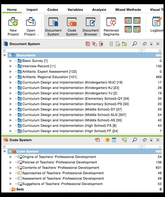Data categorization with MAXQDA
