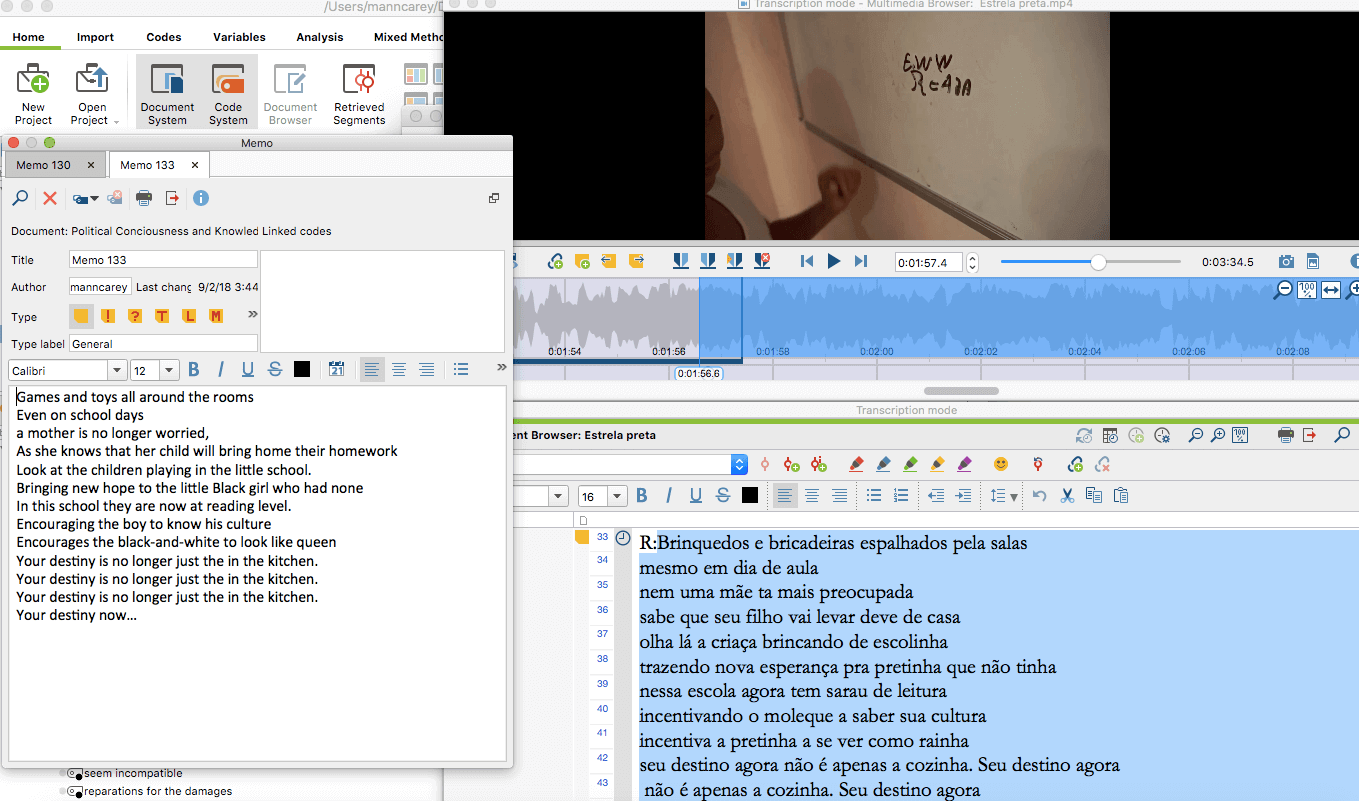 Transcribing Videos with MAXQDA
