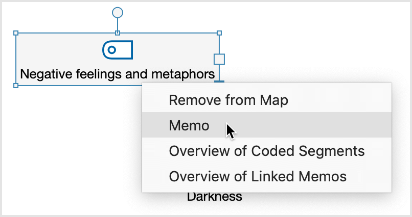 Add memo to a code in MAXMaps