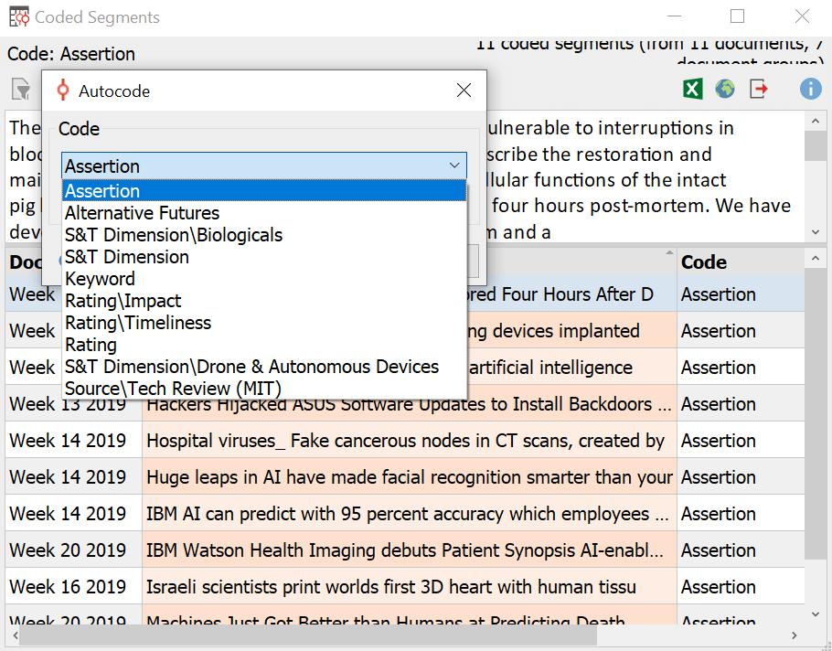 Auto-Coding for Alternate Futures