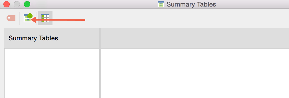 Create a new summary table in MAXQDA 12
