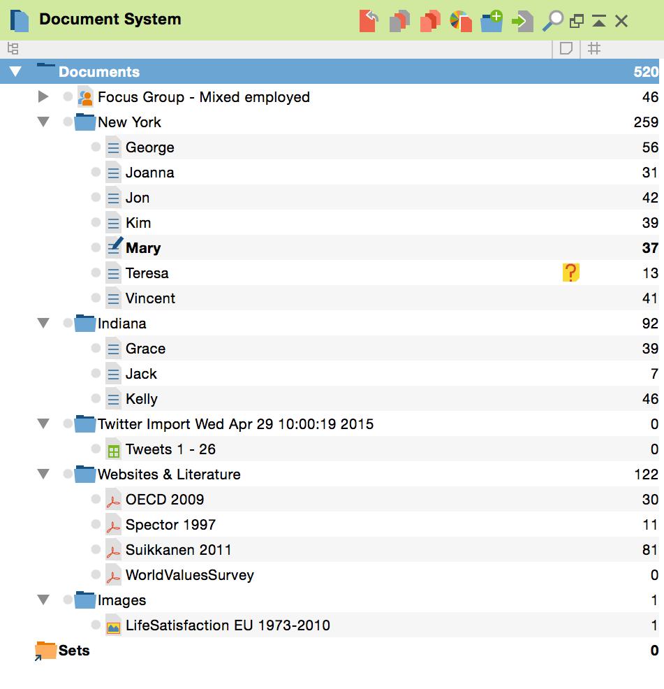 MAXQDA 12 - Document-System