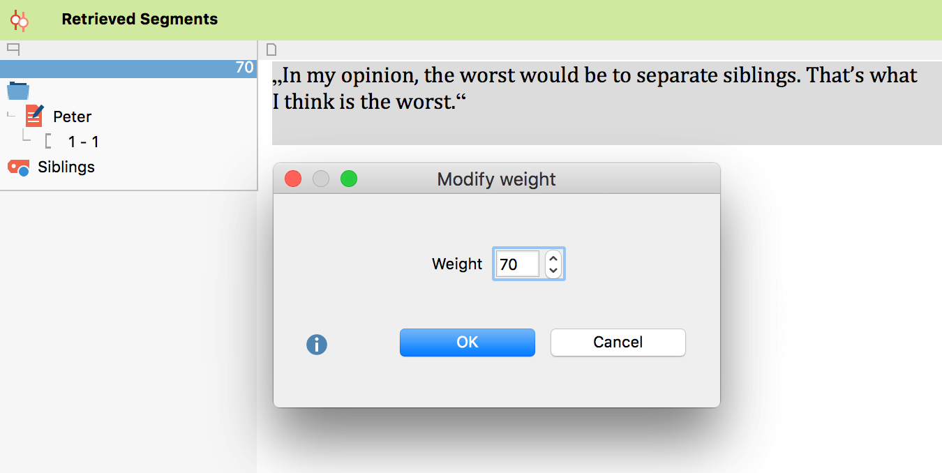 Modify Weights