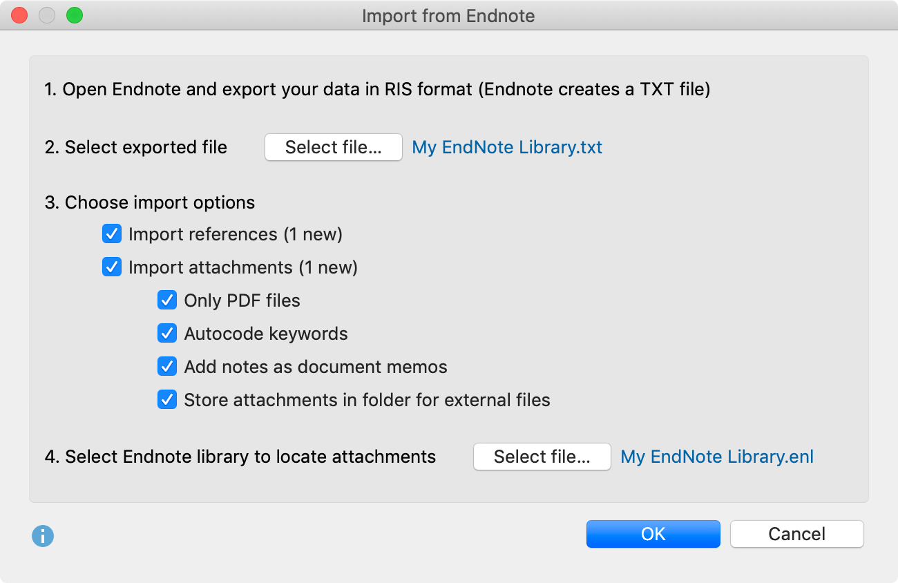 Import literature from Endnote