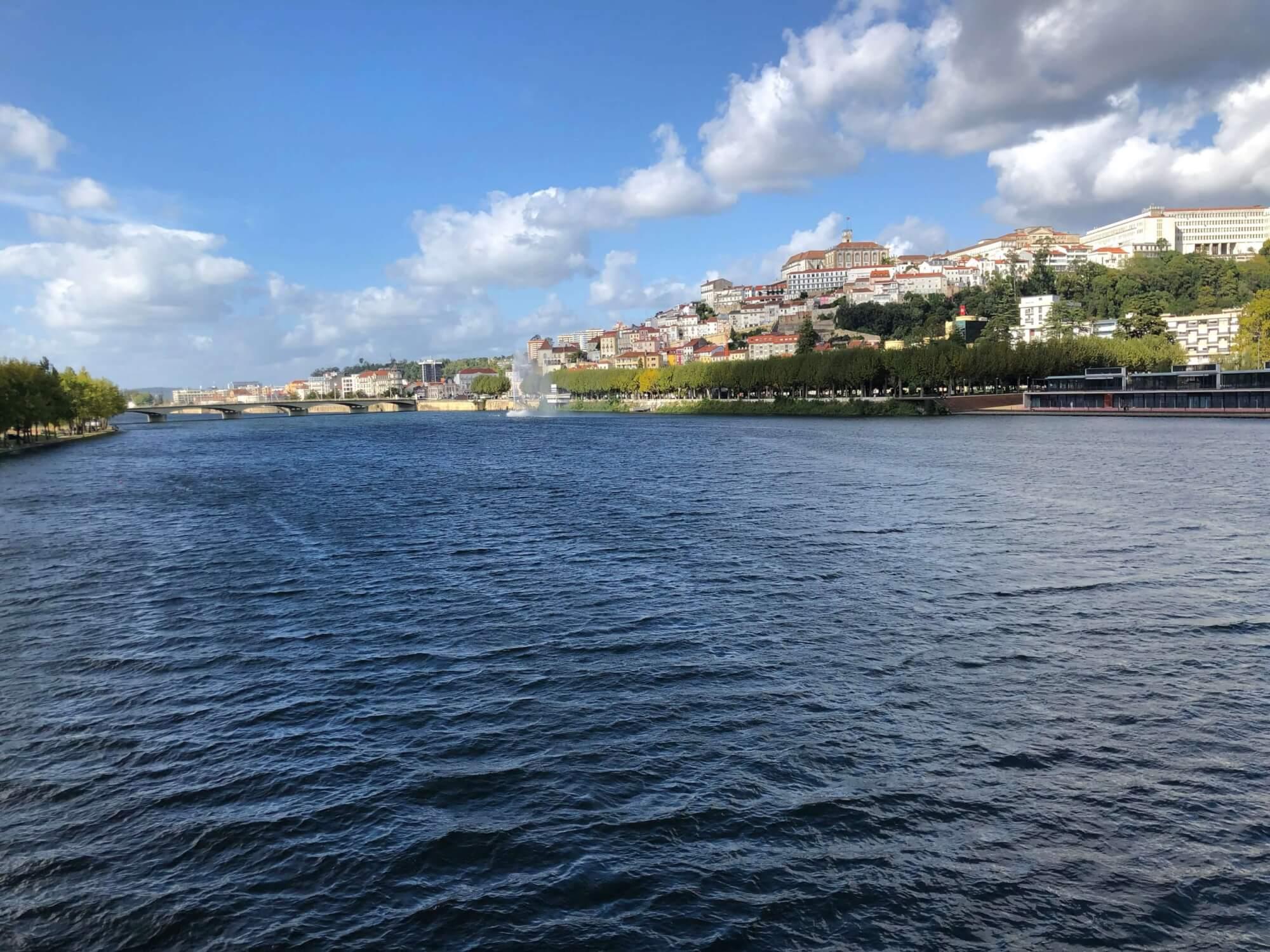 Mondego river in Coimbra.