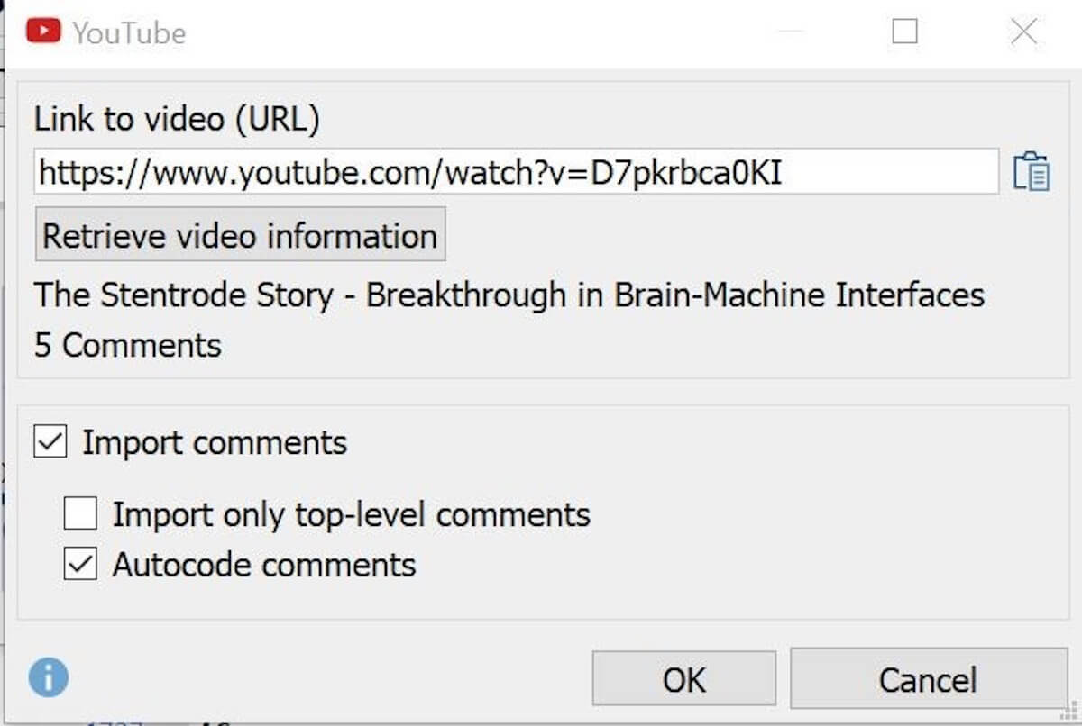 YouTube Import into MAXQDA 2018 with Automated Transcription