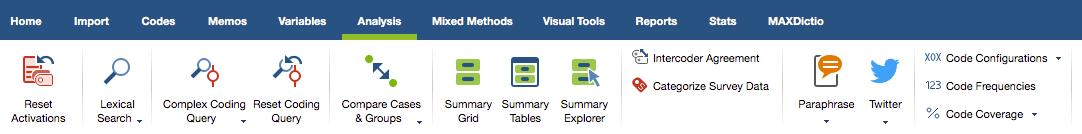 Document analysis: Figure 5: different analysis strategies in MAXQDA