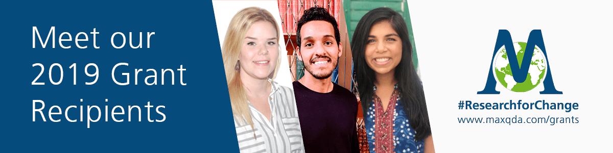 MAXQDA Grant Recipients 2019