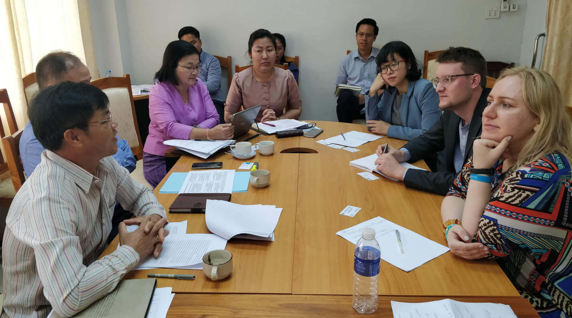Meeting stakeholders at the Laotian Ministry of Science and Technology