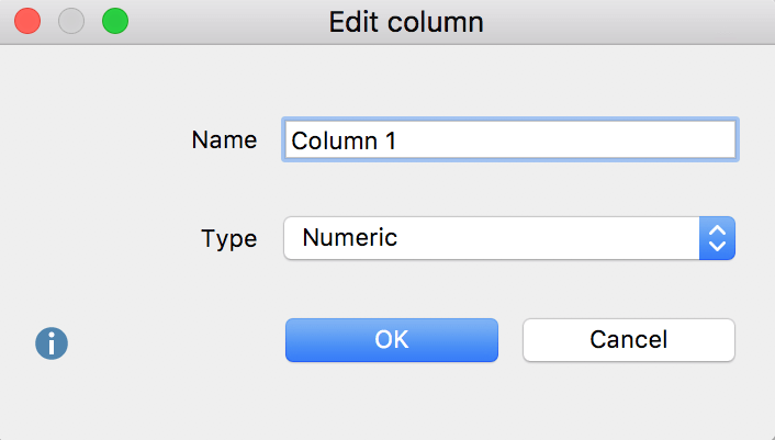 Modify column header