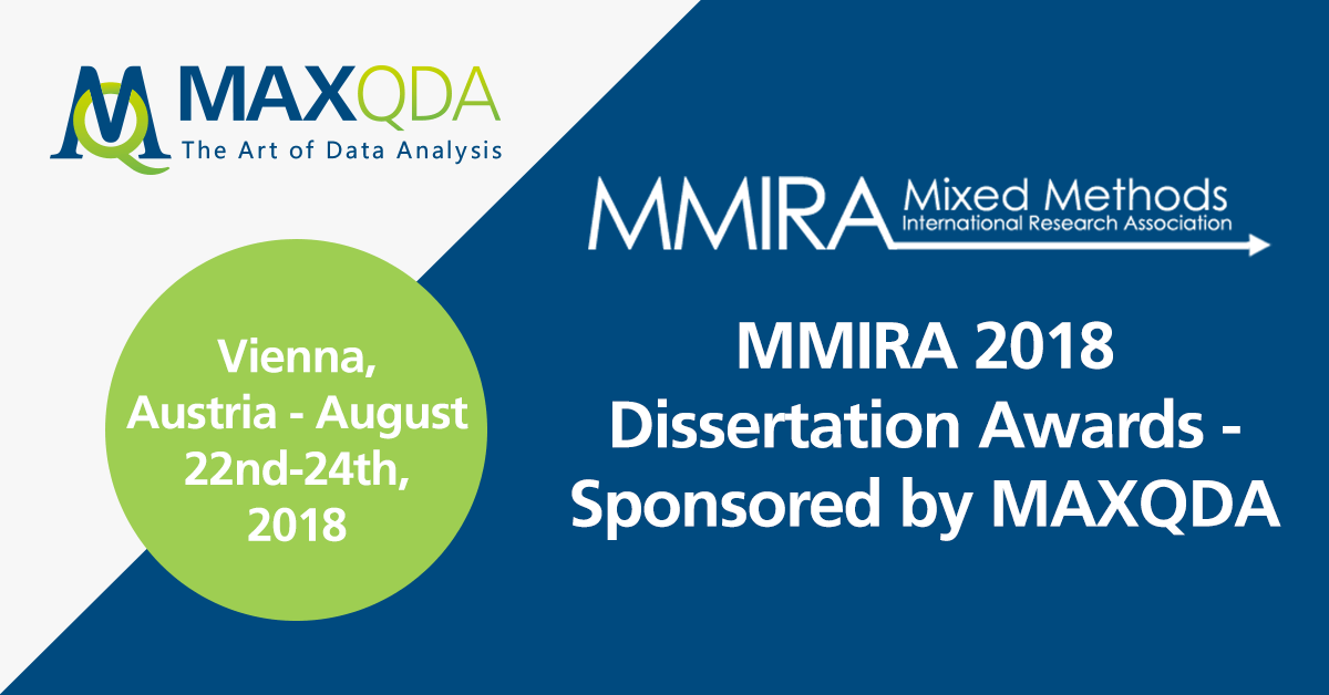 MMIRA 2018 Dissertation Award sponsored by MAXQDA