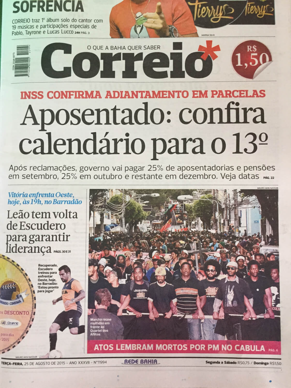 Correio Newspaper Cover