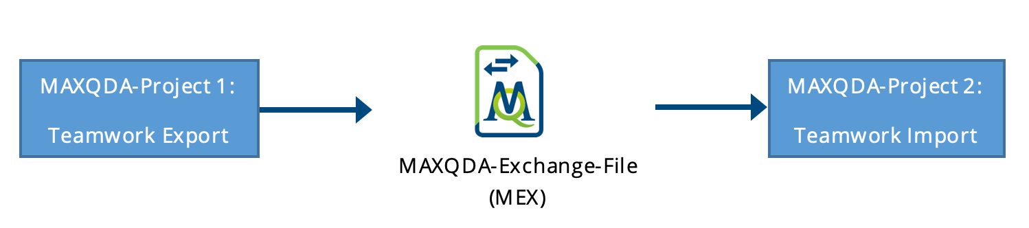 export and import MAXQDA 2018 research team files