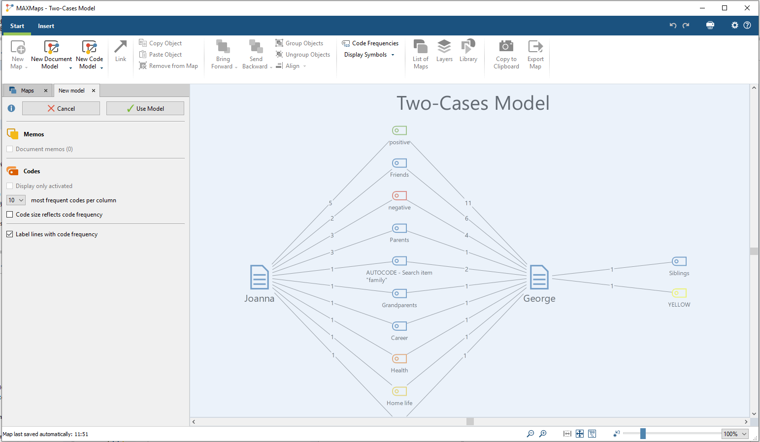 preview of a two-cases model