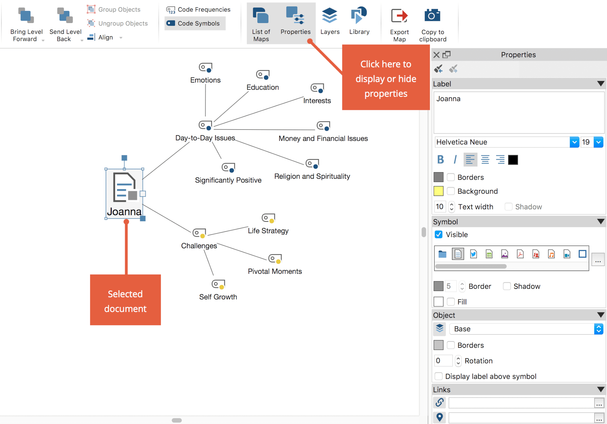 Customize Objects in MAXMaps - MAXQDA - The Art of Data Analysis