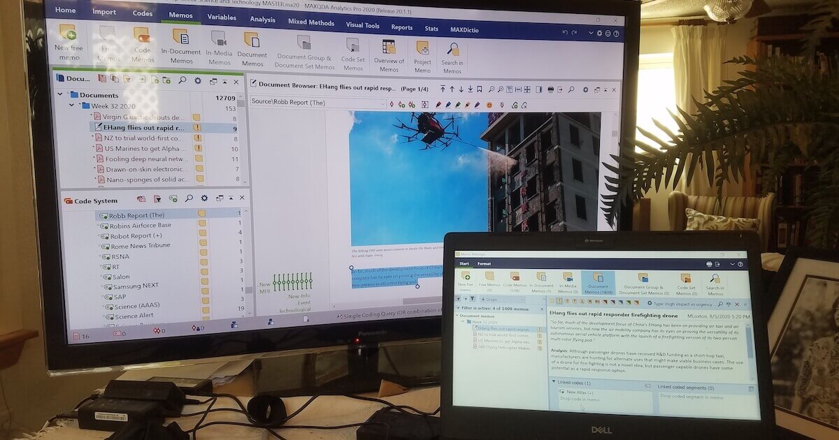 Workspace for Qualitative Data Analysis: MAXQDA Memo Manger