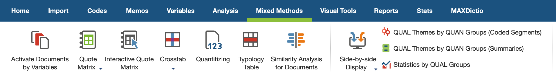 "The ""Mixed Methods"" Tab"