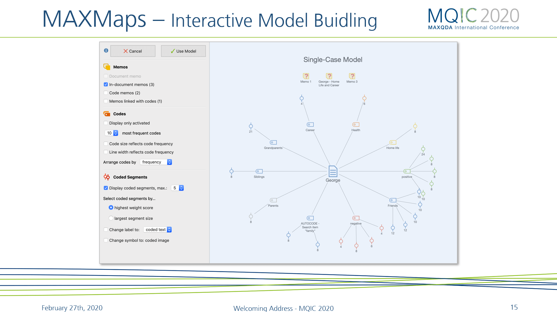 MAXQDA 2020 MAXMaps feature