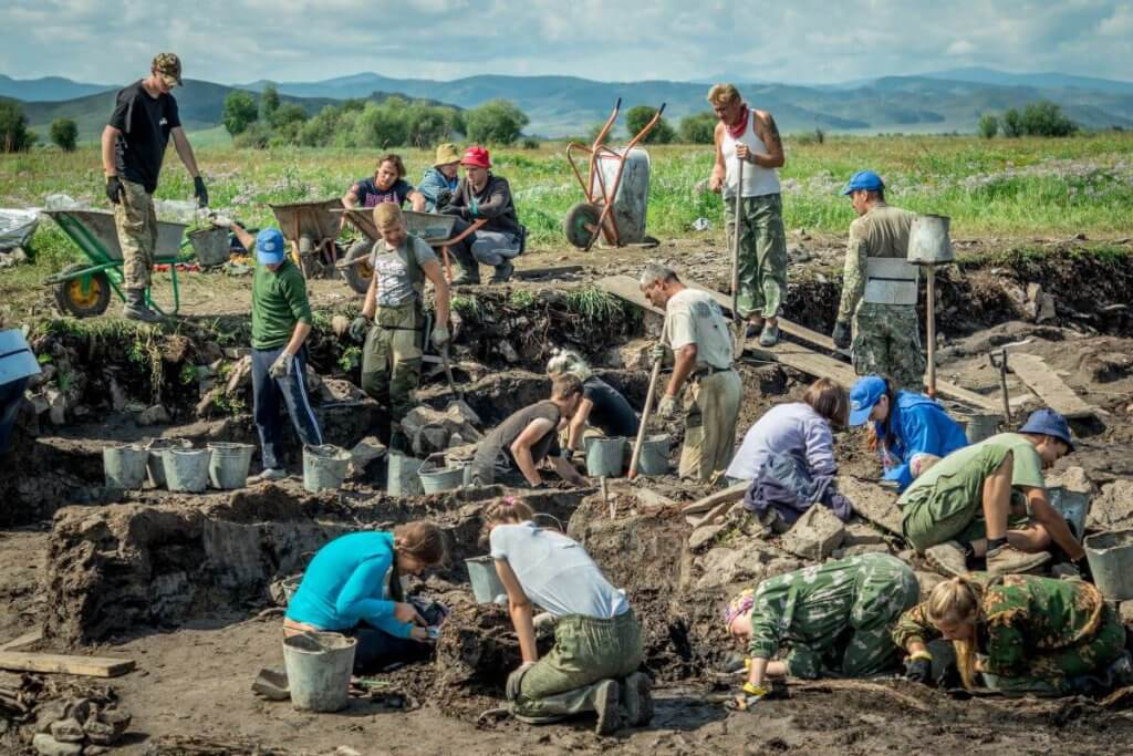 Archaeological excavations in Tuva