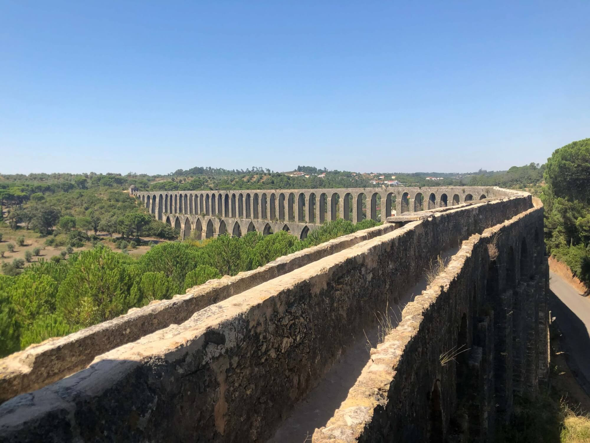 Figure 2 – Pegões Aqueduct in Tomar, Portugal- built in the 17th century.