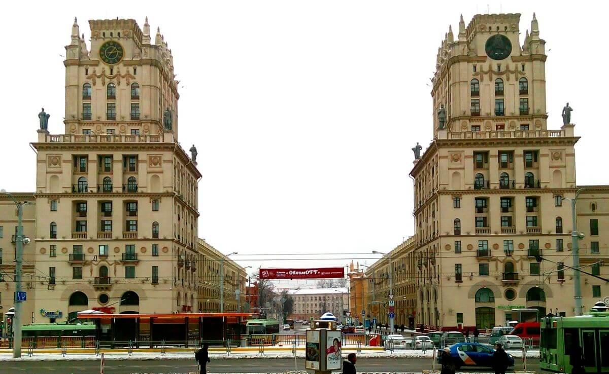Symbolic city gate in Minsk