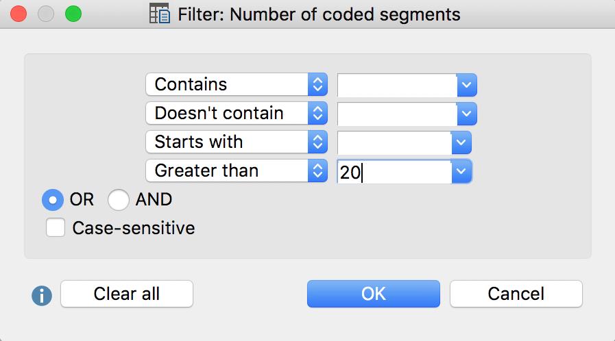 Filter window