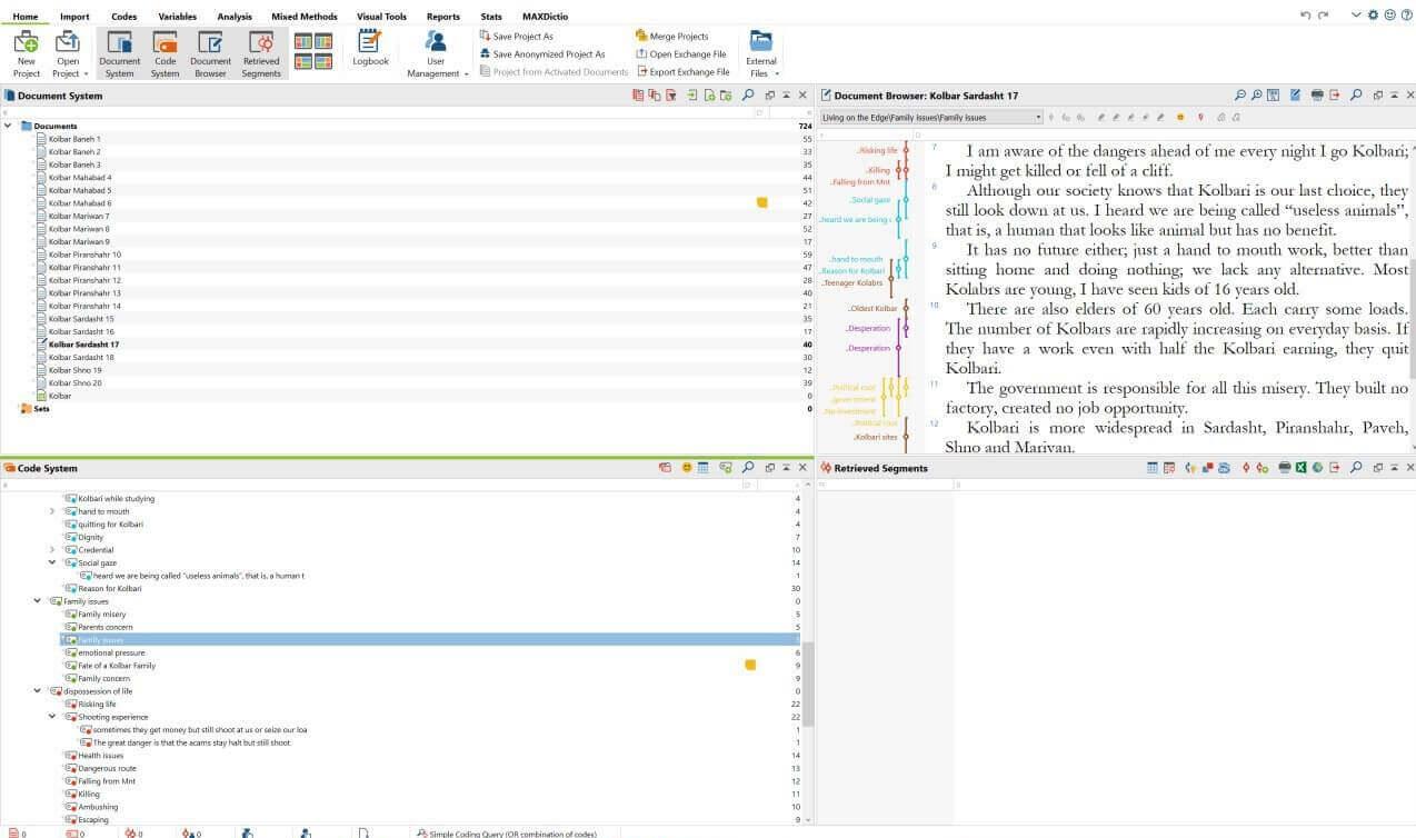 Coding Process MAXQDA 2018