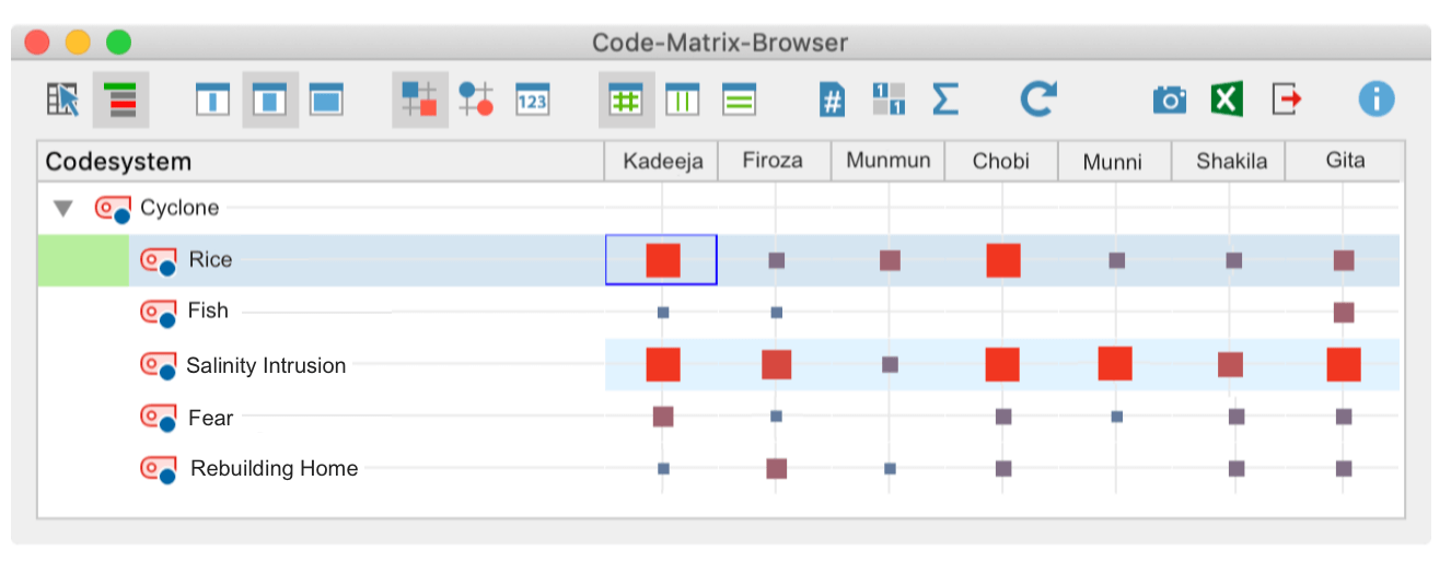 Code Matrix Browser