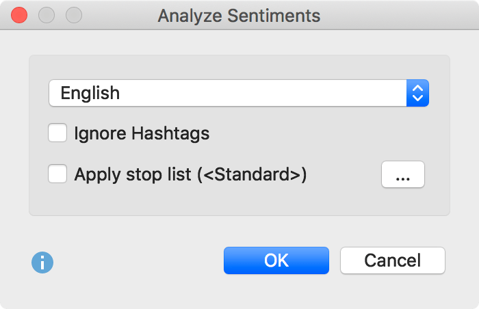 Options for sentiment analysis of tweets