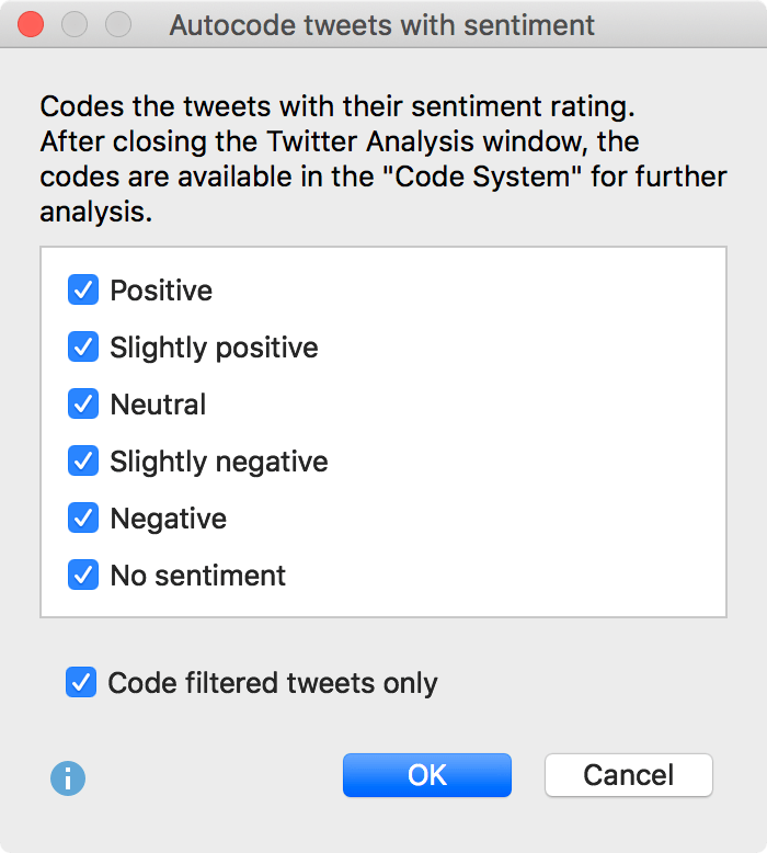 Options for coding the tweets with their sentiment