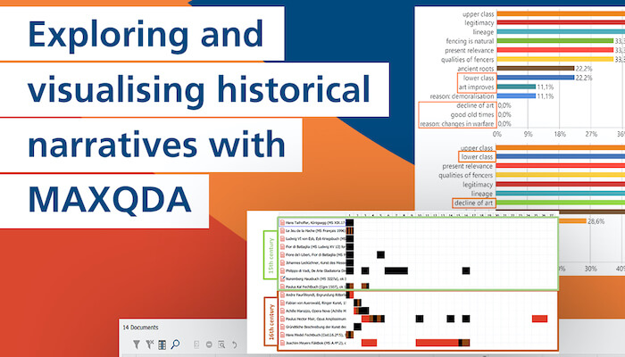 Exploring and visualising historical narratives with MAXQDA