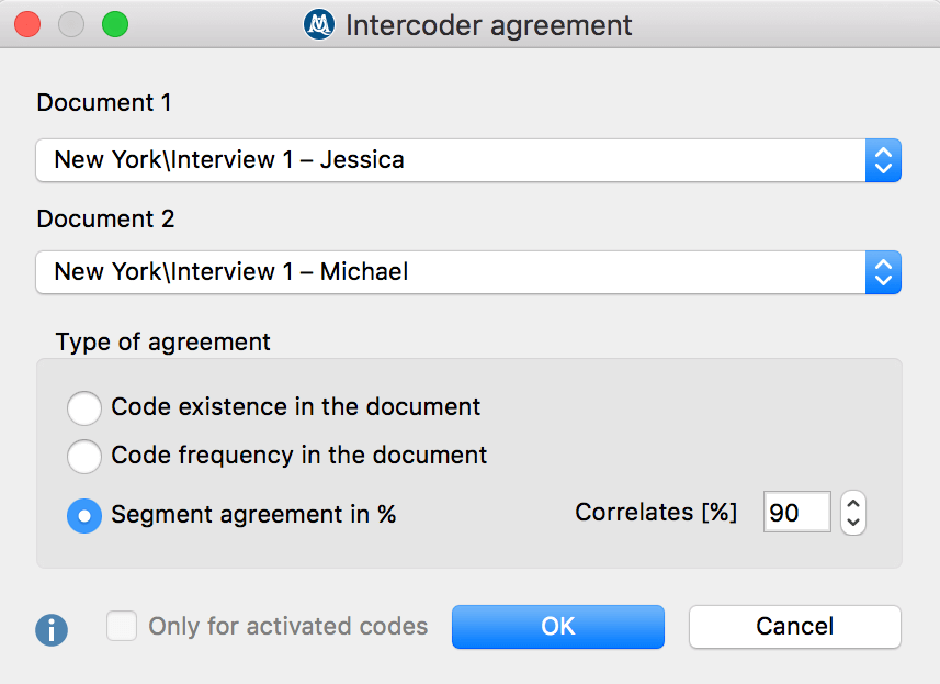 Intercoder Agreement