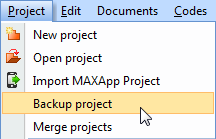 Save MAXQDA 11 project for MAXQDA 10: Step 1