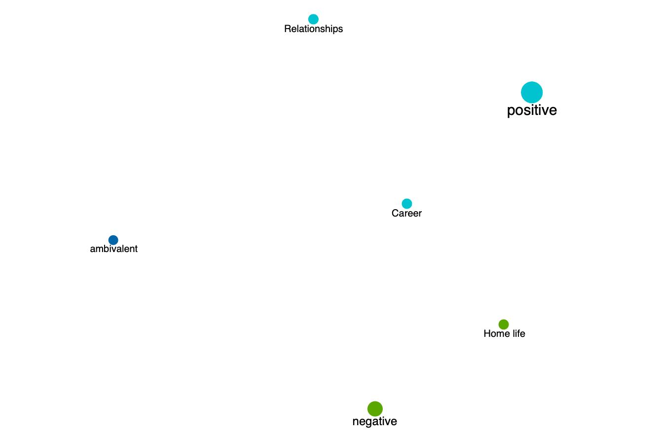 Screenshot from MAXQDA2020 showing the Code Map.