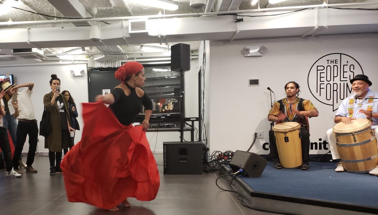 Woman dancing Bomba in New York