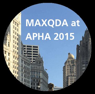 MAXQDA at APHA 2015